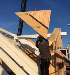 Holzrahmenbau Aufstellung 2
