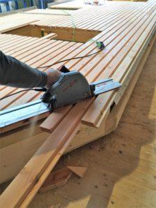 Holzrahmenbau Aufstellung Zuschnitt
